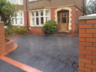 commercial driveway in Newport