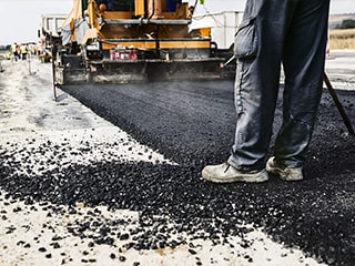 laying a road surface