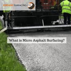 what is micro asphalt resurfacing?